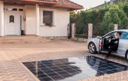 Solceller som holdbare fliser i indkørslen eller terrassen